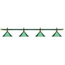 Лампа на четыре плафона «Allgreen» D35 (зелёная штанга, зелёный плафон D35см)