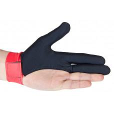 Перчатка бильярдная «Renzline» (черно-красная)
