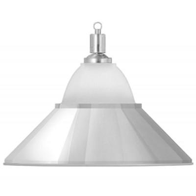 Лампа на один плафон «Jazz» (серебристая чашка, серебристый плафон D38см)