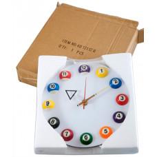 """Часы настенные """"12 шаров"""" D20,5 см (белые), пластик"""