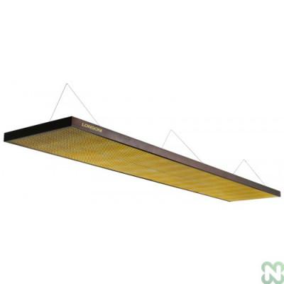 Лампа плоская люминесцентная «Longoni Magnum»(черная, золотистый отражатель, 320х62х6см)