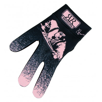 Перчатка бильярдная «Longoni Billiard Player PINK» (черно-розовая)