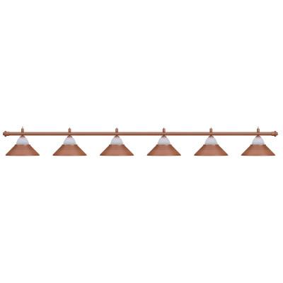 Лампа на шесть плафонов «Jazz» (бронзовая штанга, бронзовый плафон D38см)