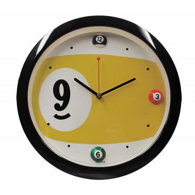 """Часы настенные """"Девятка"""" D29 см (черные)"""