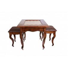 Стол ломберный шахматный Классический, 2 табурета, Ustyan