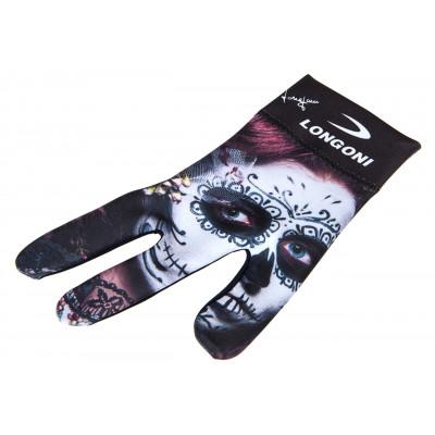 Перчатка бильярдная «Longoni Fancy Skull 1» правая