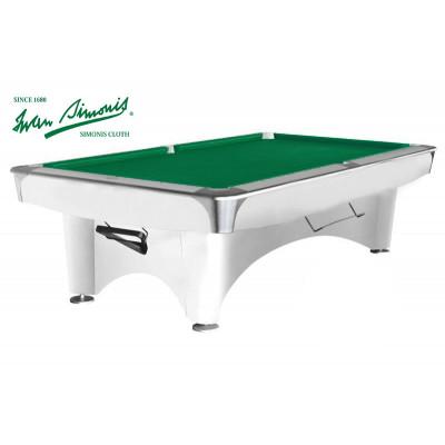 Бильярдный стол для пула «Dynamic III» 9 ф (белый)