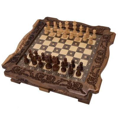 Шахматы резные в ларце 40 с ящиками, Avetyan