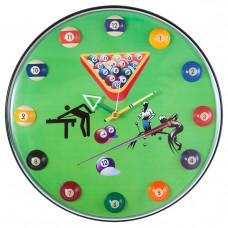 """Часы настенные """"12 шаров"""" D32 см (зеленые), пластик"""