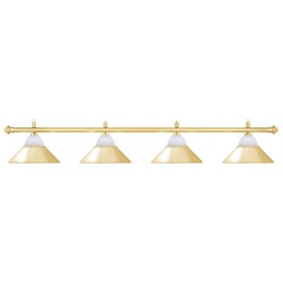 Лампа на четыре плафона «Jazz» (золотистая штанга, золотистый плафон D38см)
