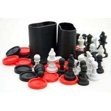"""Комплект для игры в шахматы шашки нарды """"Universe / Heat"""""""