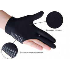 Перчатка бильярдная «WB» (черно-оранжевая), защита от скольжения