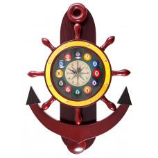 """Часы настенные """"Якорь"""" 40 см х 61 см, деревянные"""