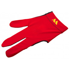 Перчатка бильярдная «WB» (черно-красная), защита от скольжения