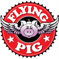 Наклейка для кия «FlYING PIG» (10 слоев, кожа кабана, 14 мм)