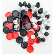 Комплект для игры в шахматы шашки нарды &quot