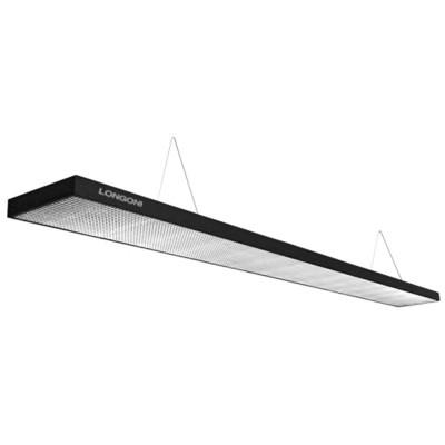 Лампа плоская светодиодная «Longoni Compact» (черная, серебристый отражатель, 247х31х6см)