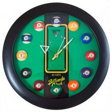 """Часы настенные """"12 шаров"""" D32 см (черные), пластик"""