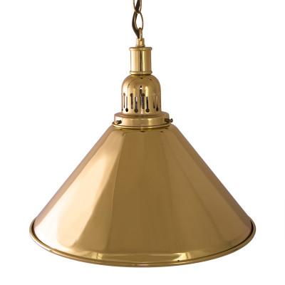 Лампа на один плафон «Elegance» (золотистая чашка, золотистый плафон D35см)