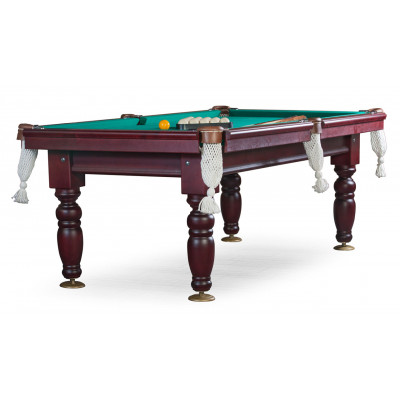 Бильярдный стол для русского бильярда «Дебют» 8 ф (махагон) ЛДСП