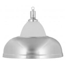 Лампа на один плафон «Crown» (серебристая чашка, серебристый плафон D38см)