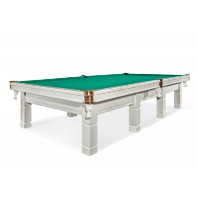 Бильярдный стол для русского бильярда «Милан» 12 футов (белый)
