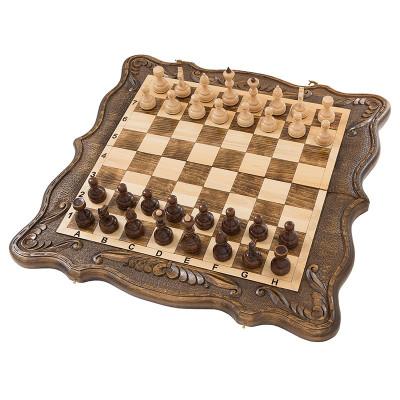 Шахматы + нарды резные 50, am452