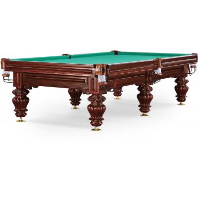 Бильярдный стол для русского бильярда «Turin» 9 ф (вишня, 6 ног, плита 38мм)