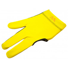 Перчатка бильярдная «WB» (черно-желтая), защита от скольжения