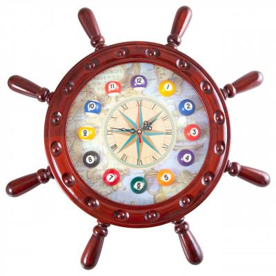 """Часы настенные """"Штурвал"""" 50 см х 50 см, деревянные"""