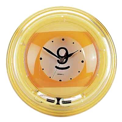 """Часы настенные """"Девятка"""" (неон) D35см"""