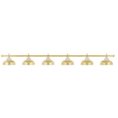 Лампа на шесть плафонов «Crown» (золотистая штанга, золотистый плафон D38см)