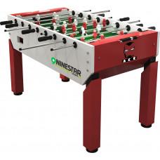 Игровой стол - футбол «Nine Star Iron Men» (151 x 82 x 42 см, красный)