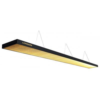 """Лампа плоская светодиодная """"Longoni Compact"""" (черная, золотистый отражатель, 320х31х6см)"""