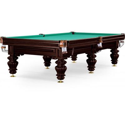 Бильярдный стол для русского бильярда «Turin» 9 ф (черный орех, 6 ног, плита 38мм)