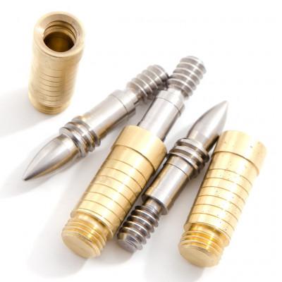 Вакуумная скрутка «Пуля» для кия 1/2 (сталь в латунь)