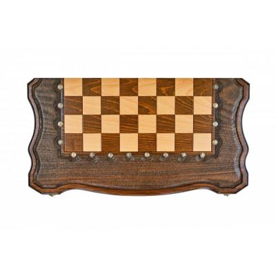 Шахматы + нарды резные Гамбит 2 60, Simonyan