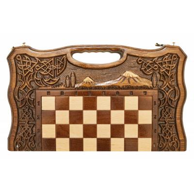 Шахматы + Нарды резные Арарат-2 40, Haleyan