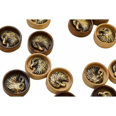 Набор фишек для нард  Орел с бронзой 210  Haleyan
