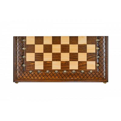 Шахматы + нарды резные Эндшпиль 1 60, Simonyan