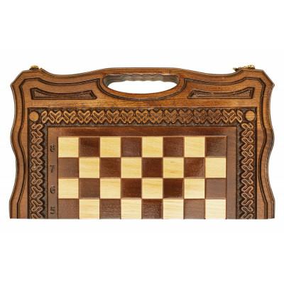Шахматы + нарды резные Бриз 2 40, Haleyan