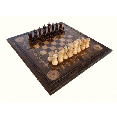 Шахматы + нарды резные Бесконечность 50, Mkhitaryan