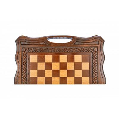 Шахматы + нарды резные Бриз 2 50, Haleyan