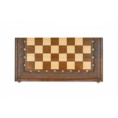 Шахматы + нарды резные Гамбит 1 60, Simonyan