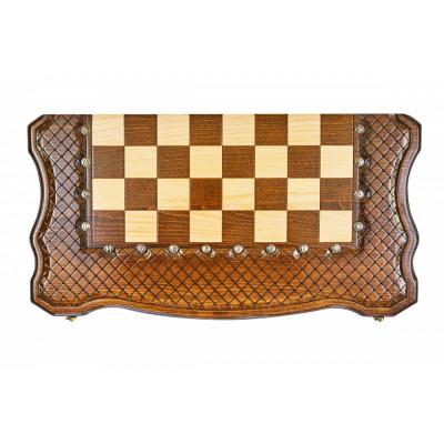 Шахматы + нарды резные Эндшпиль 2 60, Simonyan