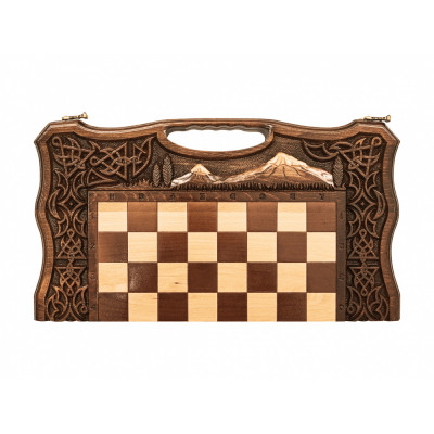 Шахматы + Нарды резные Арарат 2 50, Haleyan
