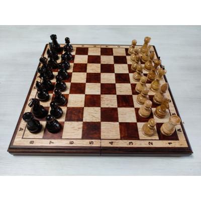 Шахматы из карельской березы 40 см с матовой доской , Ivan Romanov