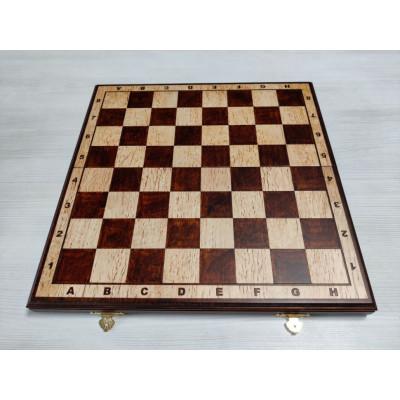 Шахматная доска из карельской березы 40 см с матовая , Ivan Romanov