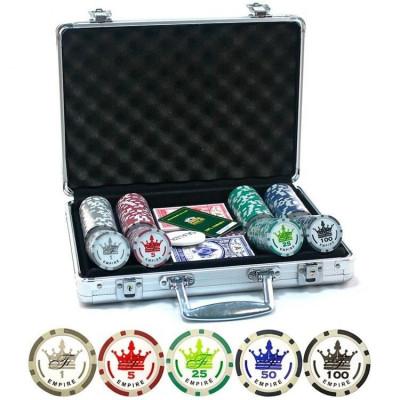 Набор для покера Empire на 200 фишек с пластиковыми картами