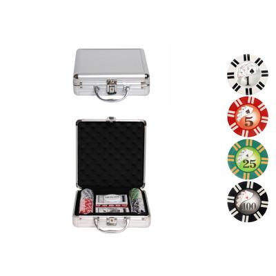 Набор для покера Royal Flush на 100 фишек с пластиковыми картами